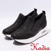★2017春夏新品★kadia.運動風造型鑽面休閒鞋(7028-98黑)