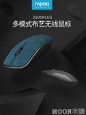 無線滑鼠 無線藍芽滑鼠可充電式靜音布藝男女生辦公電腦筆記本滑鼠無線 momo衣櫥