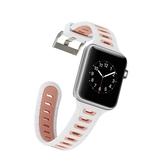 適用apple watch5錶帶蘋果手錶錶帶iwatch4/3/2/1代運動型防摔硅膠8男女