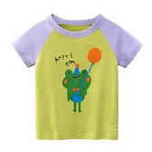 快樂青蛙圖案短袖上衣 童裝 短袖上衣 上衣