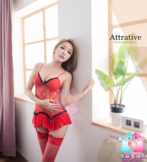【愛愛雲端】性感內衣 性感睡衣 情趣 爆乳 透視 四件組 R2NA130300293