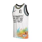 Nike 球衣 DNA Premium Jersey 白 彩 男款 球衣 塗鴉 運動休閒【ACS】 DJ5216-100