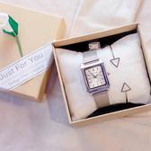 手錶冷淡風手錶銀色文藝氣質鍊條ins復古女學生正韓簡約潮流女生chic 全館一件85折