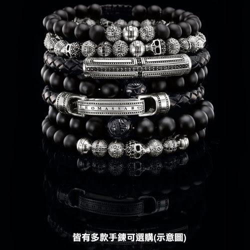 Thomas Sabo Rebel 雙頭蛇皮革手鍊-L/21.5cm LB47-019-11-L