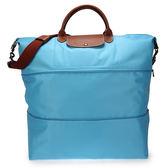 LONGCHAMP摺疊兩用旅行袋(蔚藍色)480204-807