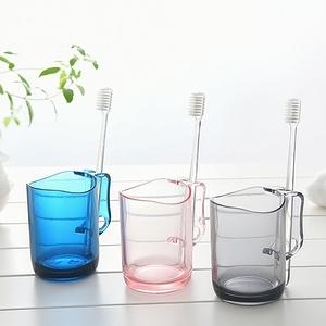 日本SP SAUCE可立牙刷漱口杯2入特惠組粉紅色+灰色