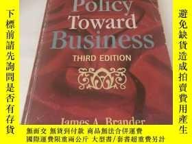 二手書博民逛書店government罕見policy toward busine