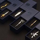 領帶夾個性創意金色男士商務領帶夾 正裝新郎結婚領夾禮盒裝(中秋烤肉鉅惠)