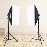 單燈頭柔光箱2燈套裝攝影棚攝影燈柔光箱套裝攝影器材補光燈-奇幻樂園