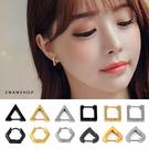 鈦鋼耳環 多邊形耳環 韓國熱賣耳扣 男女...
