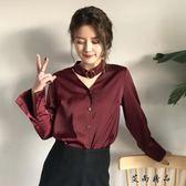 韓版寬鬆長袖時尚V領襯衫