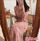 洋裝 復古 遮肚減齡雪紡連衣裙 R028-B依品國際