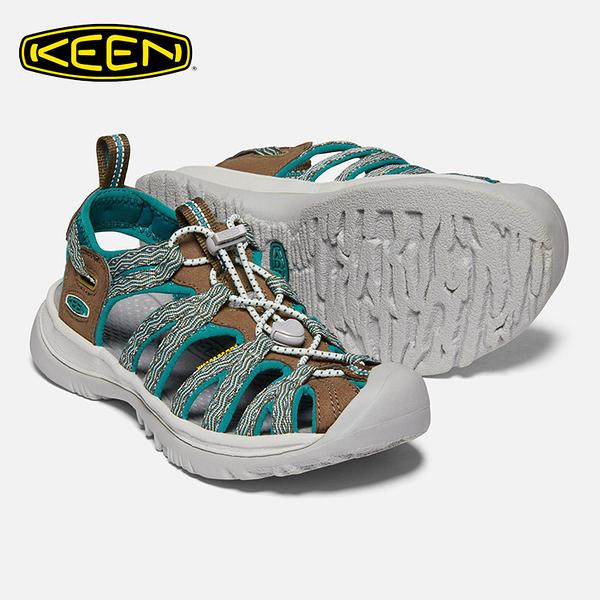 KEEN 女款 織帶涼鞋Whisper 1020327 / 城市綠洲 (水陸兩用、輕量、戶外休閒鞋、運動涼鞋)