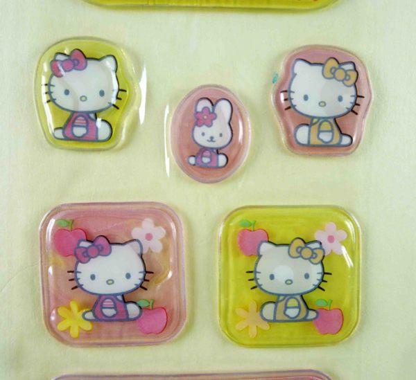【震撼精品百貨】Hello Kitty 凱蒂貓~KITTY立體貼紙-橢圓側坐
