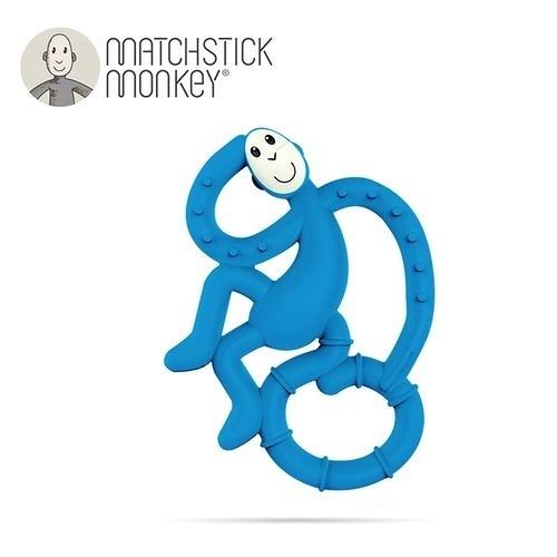 英國Matchstick Monkey 跳舞猴牙刷固齒器-藍懶猴[衛立兒生活館]