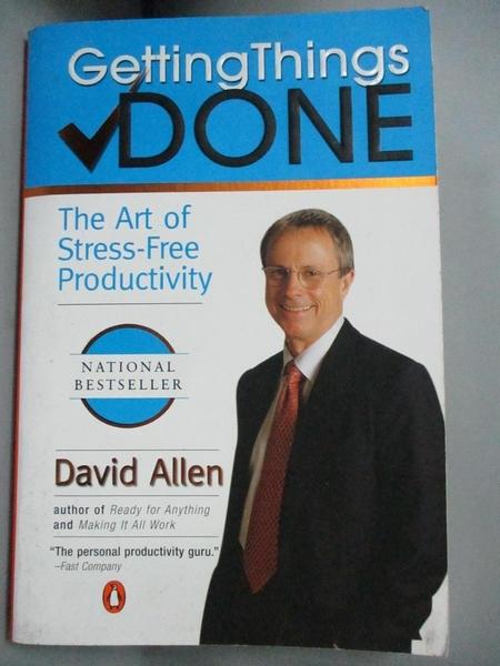 【書寶二手書T1/勵志_NCY】Getting Things Done_ALLEN, DAVID