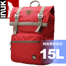 【INUK 加拿大 15L時尚亮彩休閒背包《紅》】IKB60614100041/後背包/背包