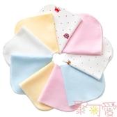 12條棉 嬰兒口水巾吸水洗臉毛巾柔軟小方巾寶寶【聚可愛】