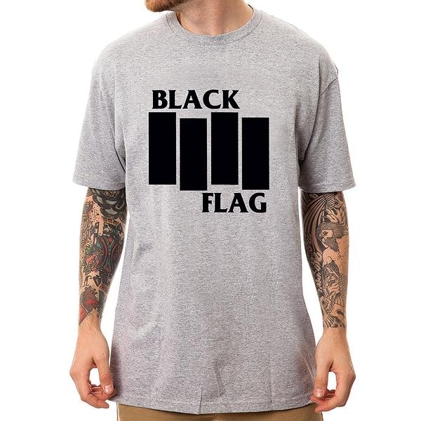 BLACK FLAG-Logo短袖T恤-3色 黑旗樂團搖滾金屬龐克美國進口PUNK ROCK CHAOS
