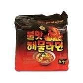 韓國 No Brand 海鮮炒碼風味拉麵(120gx5包)【小三美日】團購/泡麵