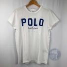 BRAND楓月 POLO Ralph Lau 藍色 LOGO T-SHIRT #M 100%純棉 短袖 服飾 經典