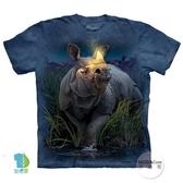 【摩達客】(預購)美國進口The Mountain 麒麟犀牛 純棉環保短袖T恤(YTM104175761041)