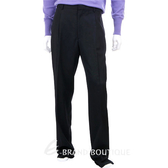 KENZO 黑色抓褶西裝褲(內裡藍色車線) 0511099-01
