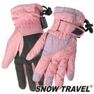 【SNOW TRAVEL 雪之旅】英國PORELLE防水全透氣薄手套 『粉』AR-51 防風手套.保暖手套