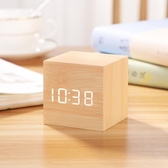 鬧鐘 迷你鬧鐘創意個性懶人學生用床頭小型簡約電子小鐘表宿舍桌面時鐘 快速出貨