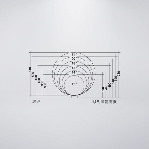 76mm套管 三英吋 戶外庭園燈 12吋單燈防水型 可客製化 可搭配LED