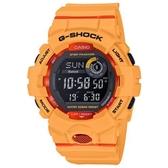 【CASIO】 G-SHOCK 活力充沛計步藍芽運動電子錶-明橘(GBD-800-4)