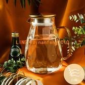 玻璃冷水壺耐高溫客廳水杯套裝冰箱輕奢北歐涼水壺【白嶼家居】