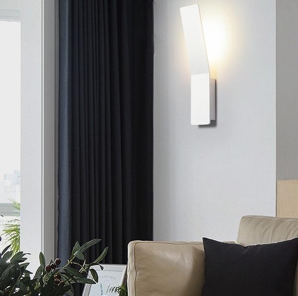 創意簡約壁燈 新現代樓梯走廊走道臥室客廳燈具個性設計師閱讀燈(暖光)