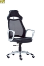 [ 家事達 ] OA-633-1  電競科技辦公椅-黑皮 /懸背/網布/烤銀腳  特價