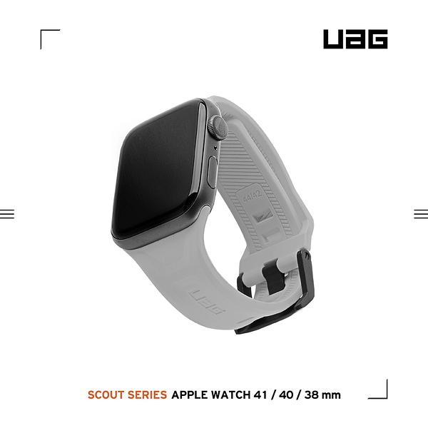 UAG Apple Watch 38/40/41mm 潮流矽膠錶帶-灰