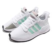 adidas 慢跑鞋 U_Path Run W 白 綠 女鞋 休閒鞋 【PUMP306】 G27649