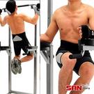 單雙槓結合操作,設伏地挺身器 主要鍛鍊手臂腹肌、肢體肌耐力 九段高低調整,適各種身高使用