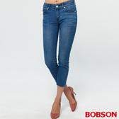 BOBSON 女款低腰彈力小直筒八分褲(235-53)
