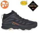 丹大戶外【MERRELL】美國 戶外多功能鞋 Moab Speed GTX 男鞋 防水健行鞋 黑/橘 ML135409