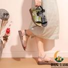 真皮軟底媽媽鞋涼鞋平底中年女防滑舒適時尚中老年人大碼50歲夏季【創世紀生活館】