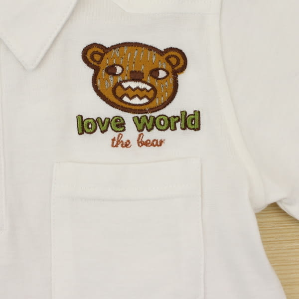 【愛的世界】夏日純棉短袖POLO衫/6歲-台灣製-n6 ★春夏上著