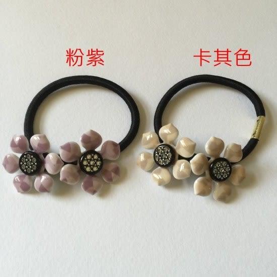 暗花紋水鑽雙花髮束-法國知名品牌,韓星御用韓國製造