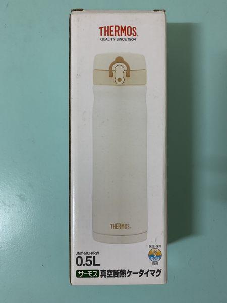 THERMOS 膳魔師 不鏽鋼真空彈蓋保溫杯保溫瓶 500ml JMY-503-PRW(珍珠白) 盒損【淨妍美肌】