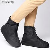 時尚防雨鞋套成人男女 戶外騎行耐磨防滑底雨天雨靴套