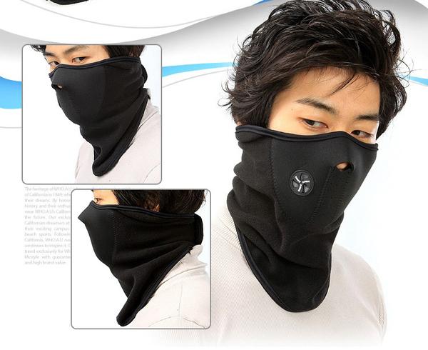騎行 防風/防寒/防塵面口罩 口罩防風面罩防寒防塵滑雪面罩戶外護臉面罩~4G手機