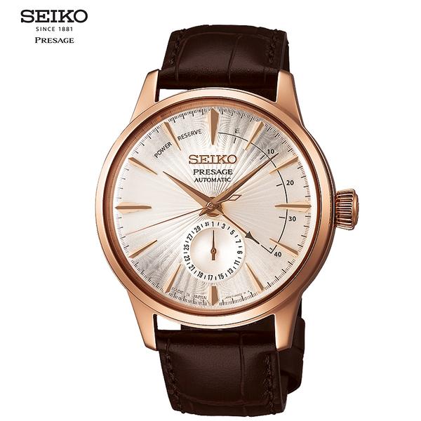 SEIKO 精工 Presage Cocktail 調酒師動力儲存顯示機械錶腕錶4R57-00E0P(SSA346J1)/40mm