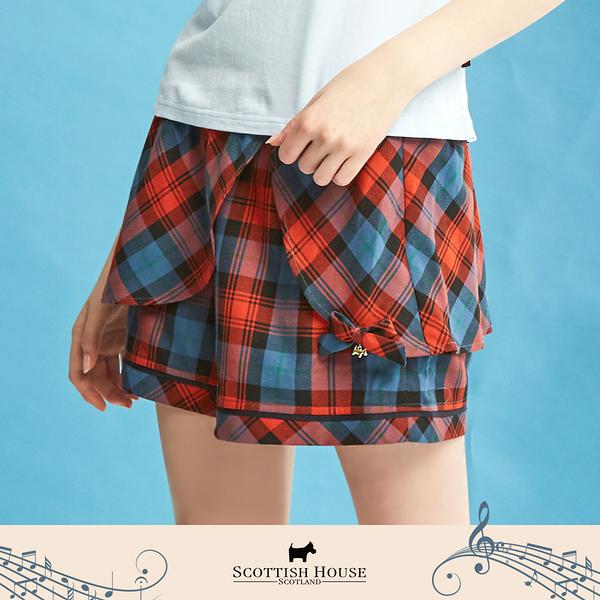 【Scottish House】 格紋 側開 短褲裙 (AN2206)