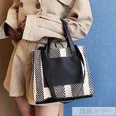 韓國原創簡約手提包女公文包化妝包商務風OL上班族單肩包編織包女 夏季新品