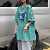 夏季新款字母短袖t恤女學生韓版寬鬆體恤衫ins原宿風半袖上衣服潮 【快速出貨】YYP