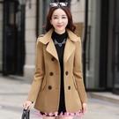 毛呢外套 冬新款短款女韓版小個子矮加厚呢...